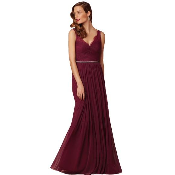 59803ccec68f BHLDN Dresses & Skirts - BHLDN Hitherto Fleur burgundy formal maxi dress 0